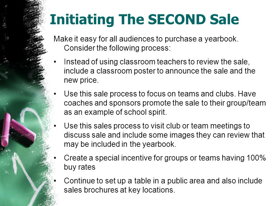 Initiating The SECOND Sale