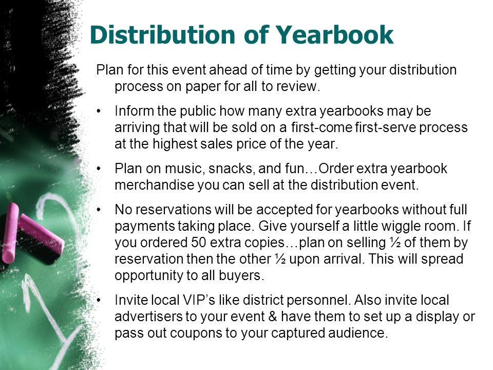 Distribution of Yearbook