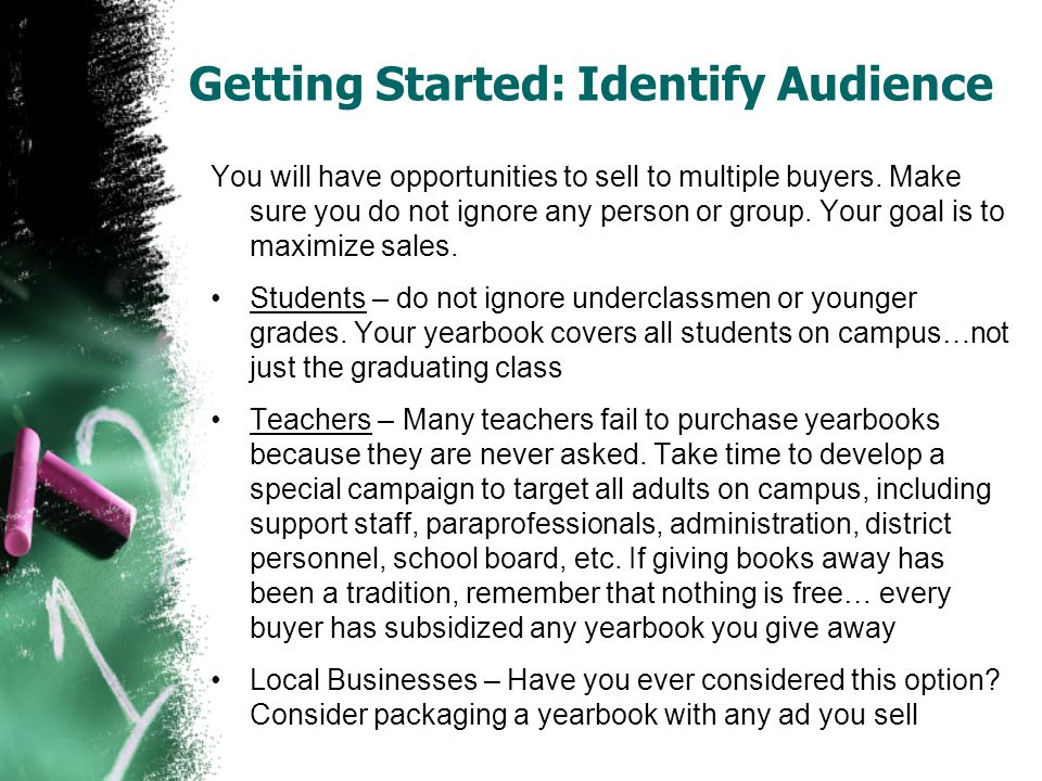 Getting Started: Identify Audience