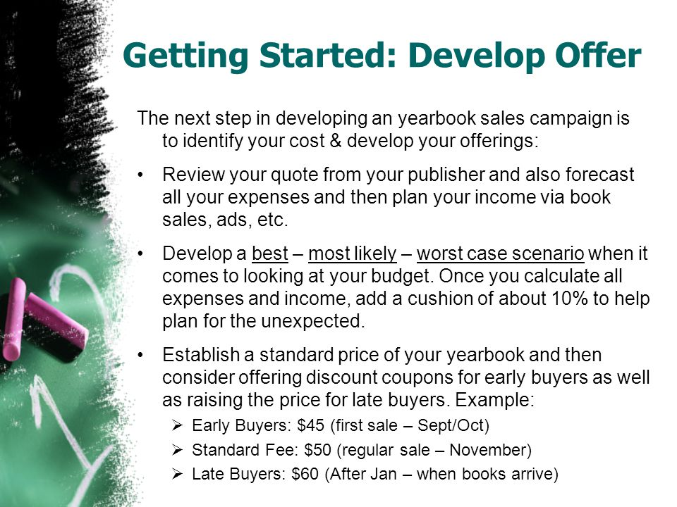 Getting Started: Develop Offer