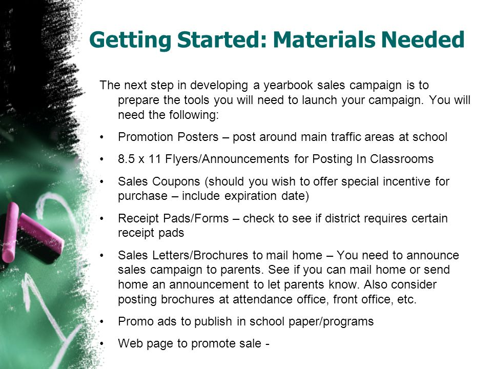Getting Started: Materials Needed