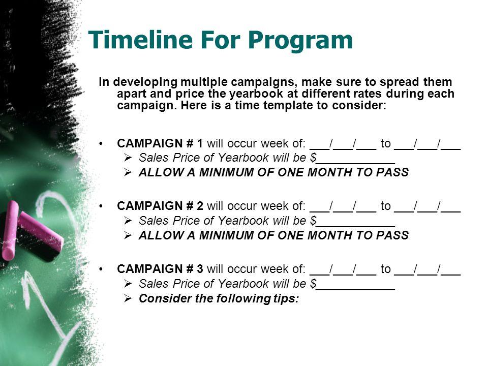 Timeline For Program