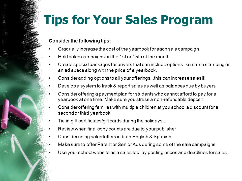 Tips for Your Sales Program