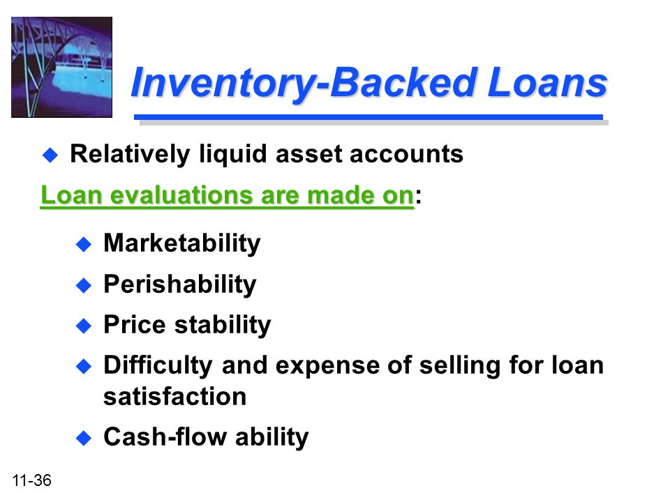 Inventory-Backed Loans