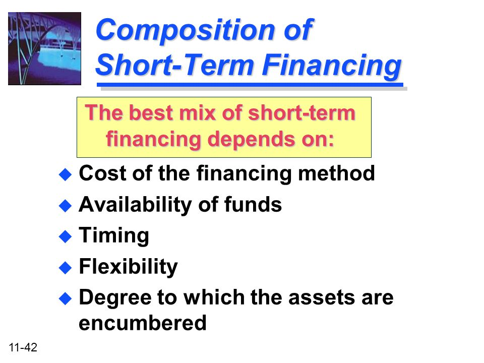 Composition of Short-Term Financing