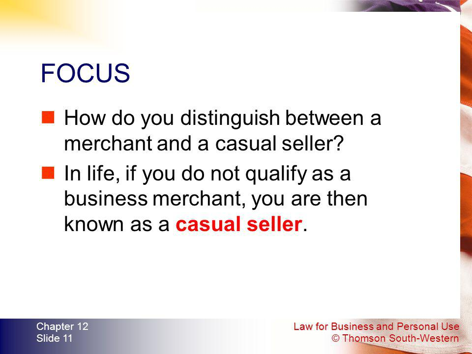FOCUS How do you distinguish between a merchant and a casual seller