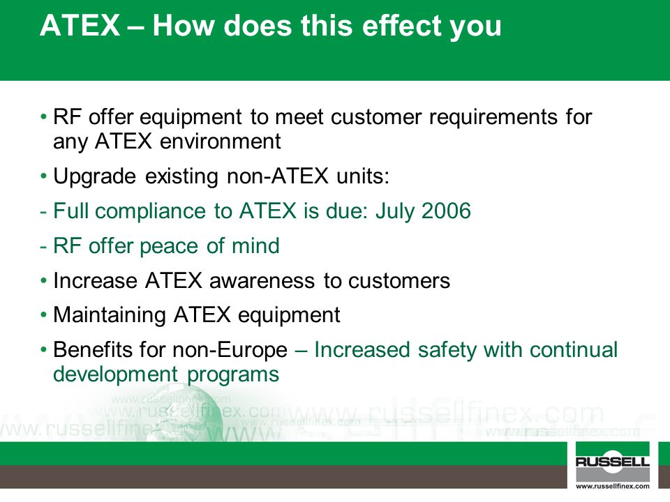 ATEX – How does this effect you