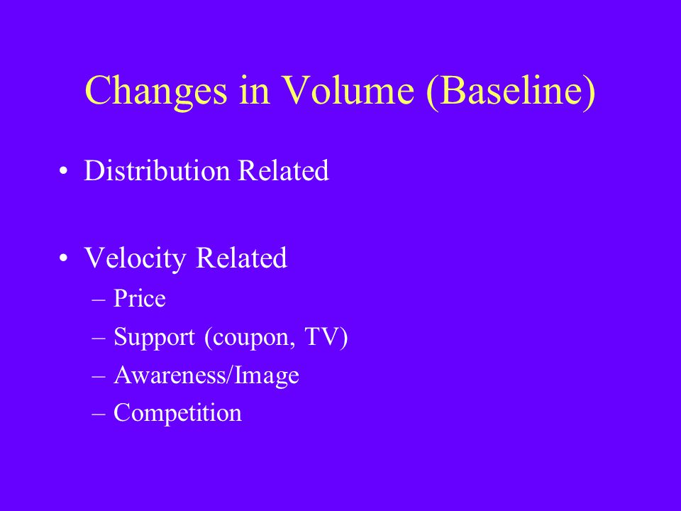 Changes in Volume (Baseline)