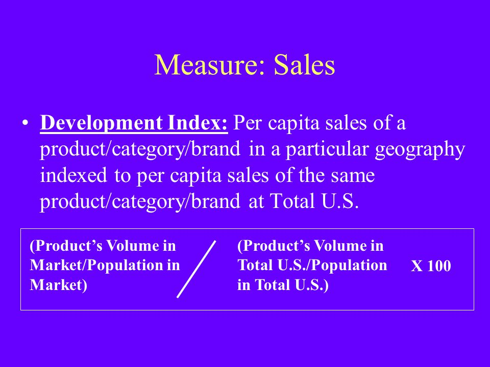 Measure: Sales