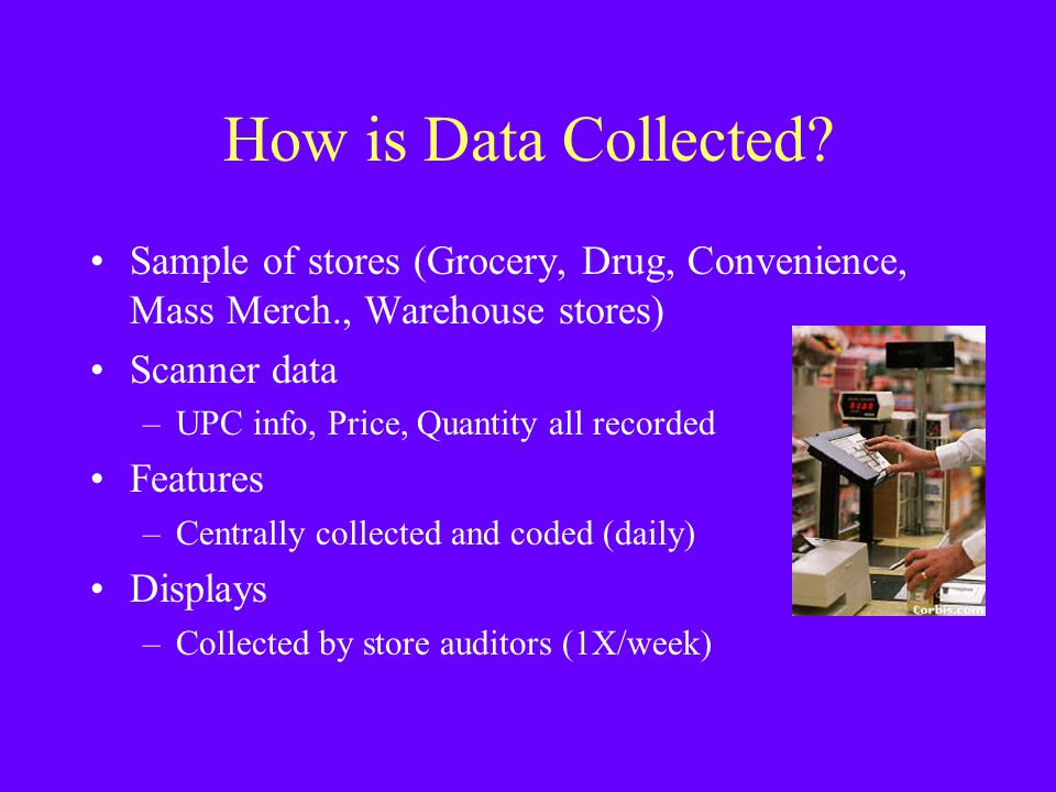 How is Data Collected Sample of stores (Grocery, Drug, Convenience, Mass Merch., Warehouse stores)