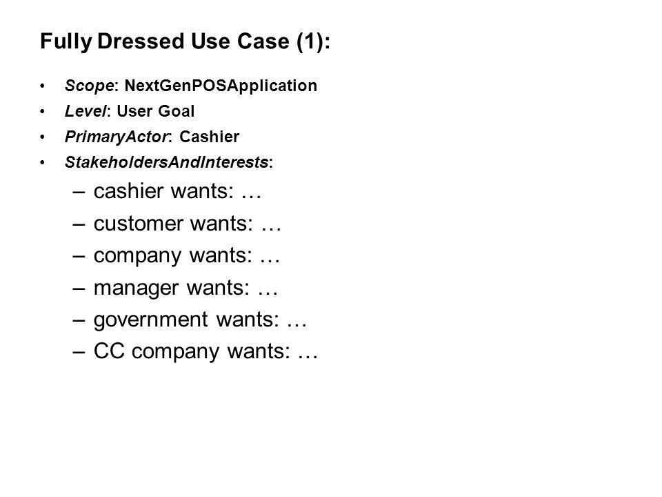 Fully Dressed Use Case (1):