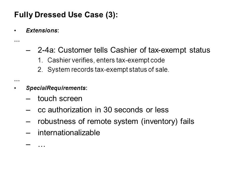 Fully Dressed Use Case (3):