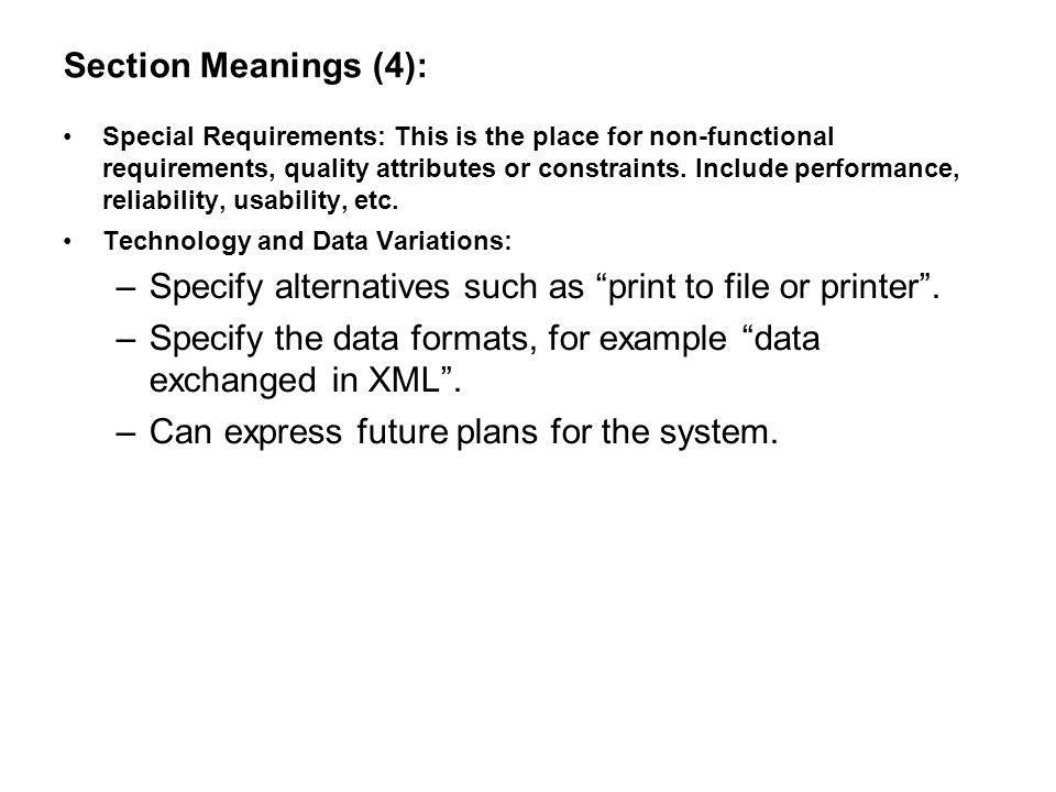 Specify alternatives such as print to file or printer .