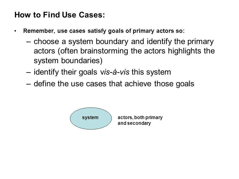 identify their goals vis-à-vis this system