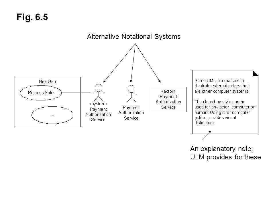 Fig. 6.5 Alternative Notational Systems An explanatory note;