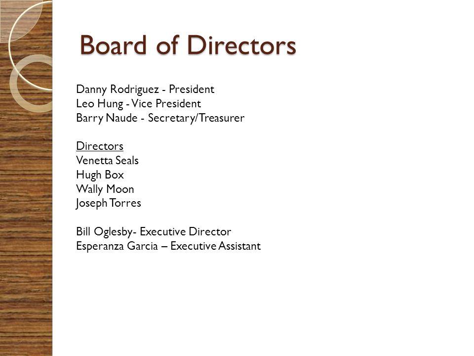 Board of Directors Danny Rodriguez - President
