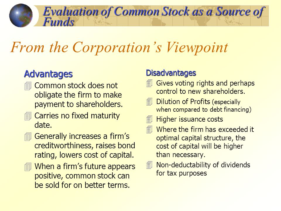 From the Corporation's Viewpoint