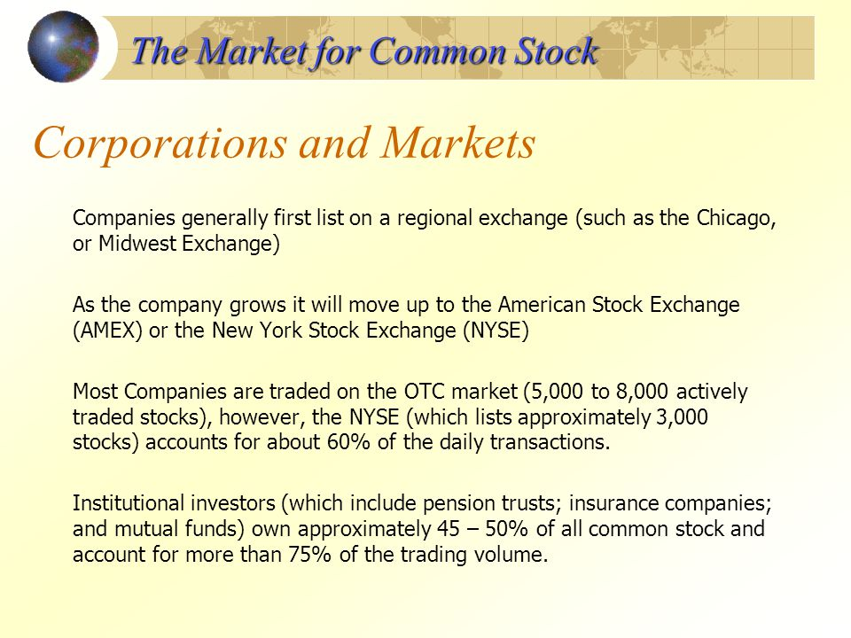 Corporations and Markets