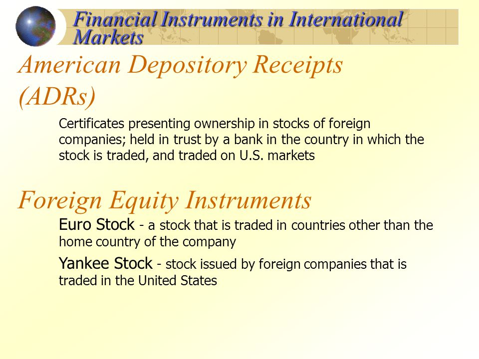 American Depository Receipts (ADRs)