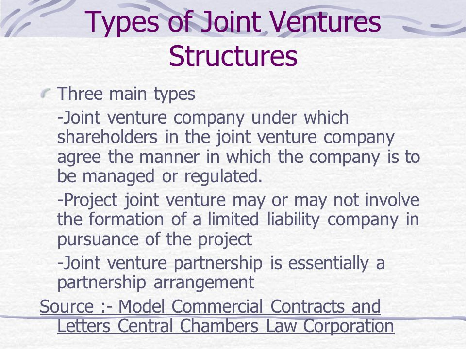 Types of Joint Ventures Structures