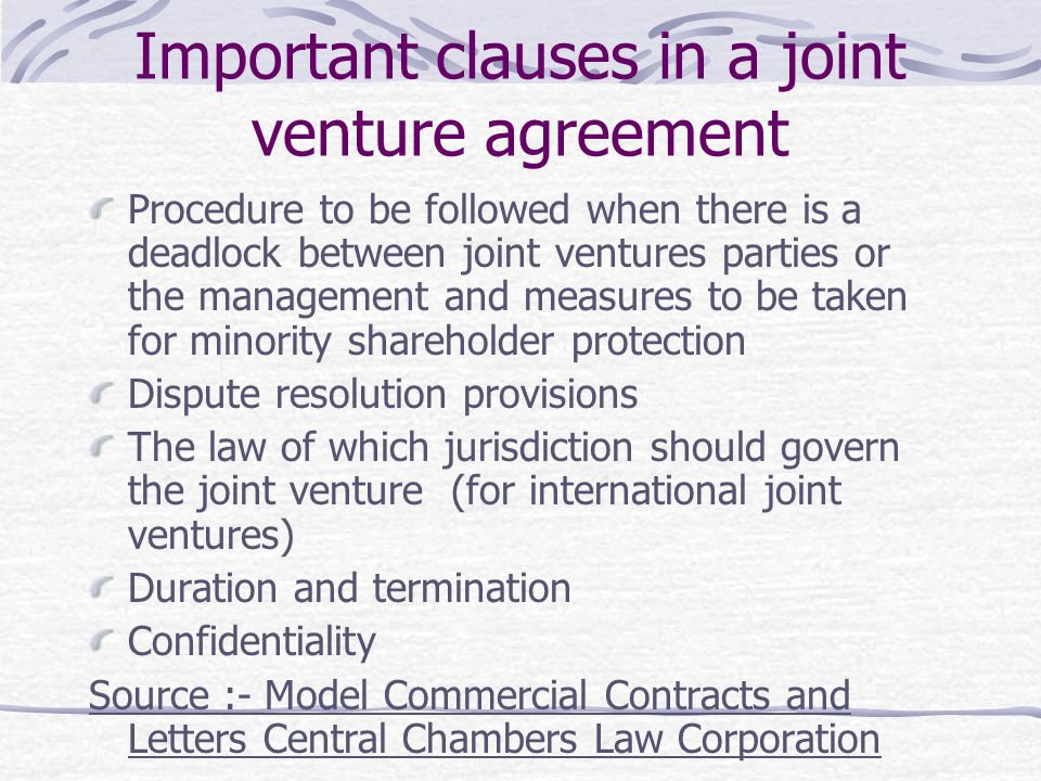 Understanding Commercial Agreements-Loans, Sale Of Shares, Joint