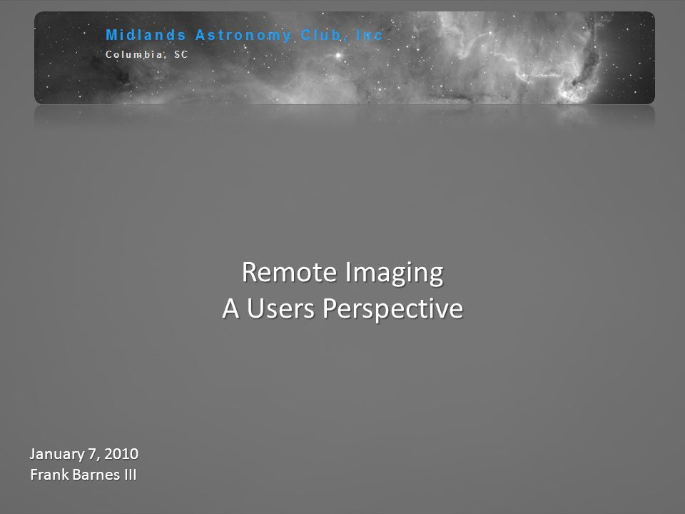 Remote Imaging A Users Perspective