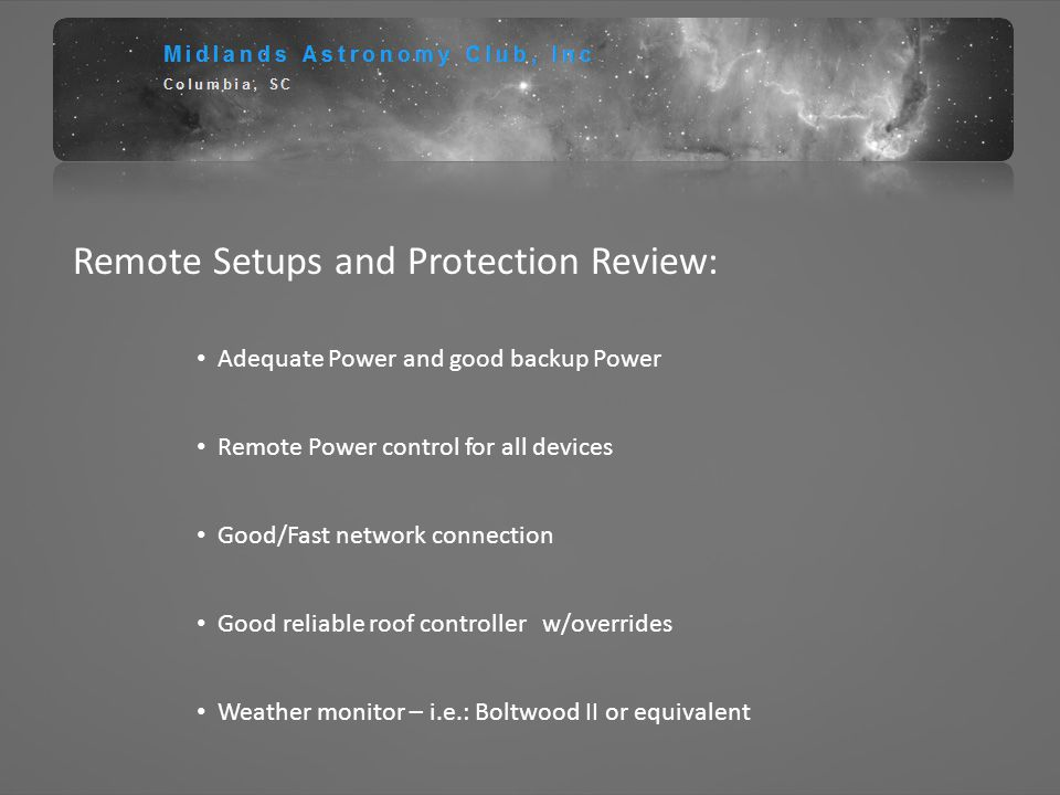 Remote Setups and Protection Review: