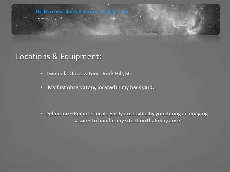 Locations & Equipment:
