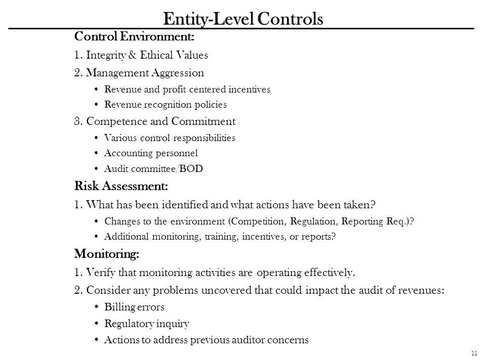 Entity-Level Controls