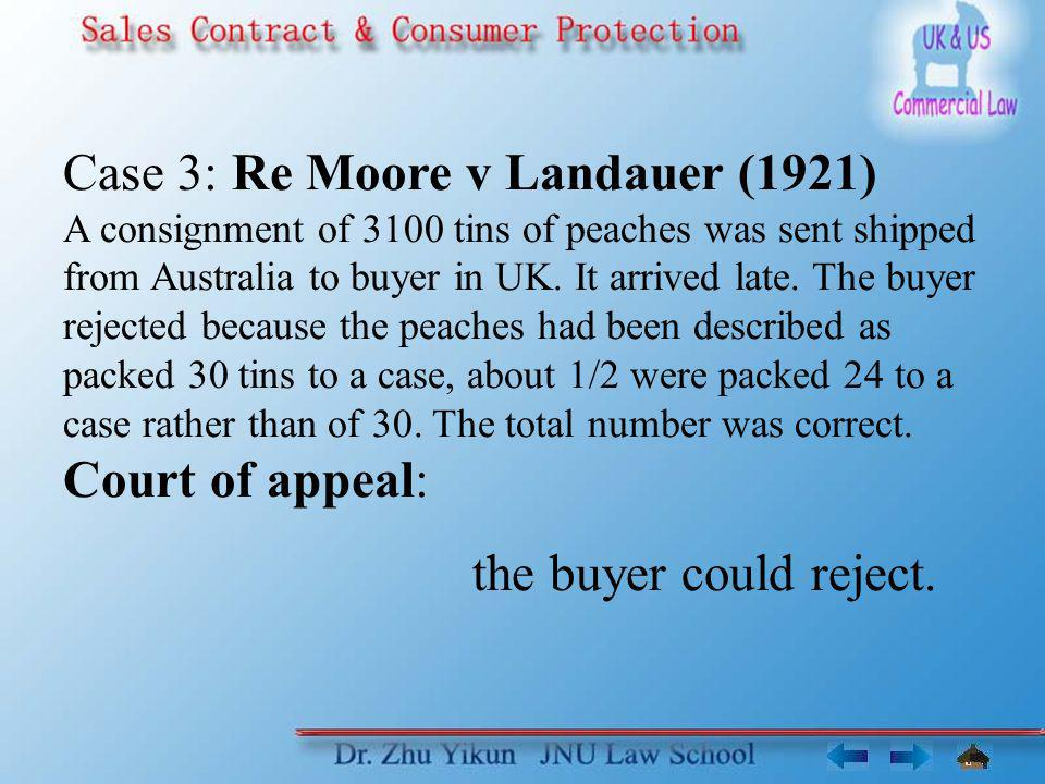 Case 3: Re Moore v Landauer (1921)