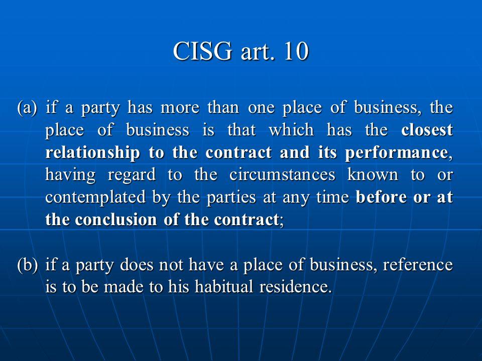 CISG art. 10