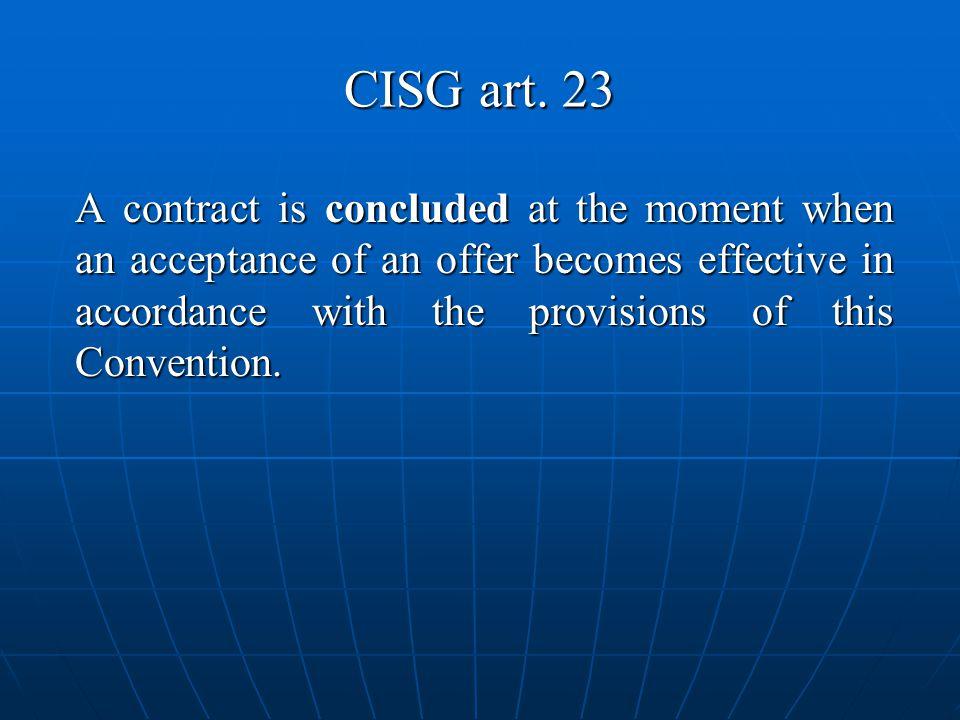 CISG art. 23
