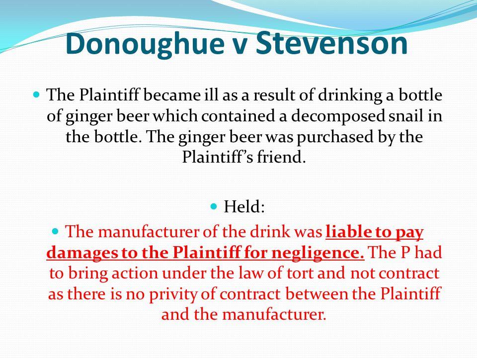 Donoughue v Stevenson