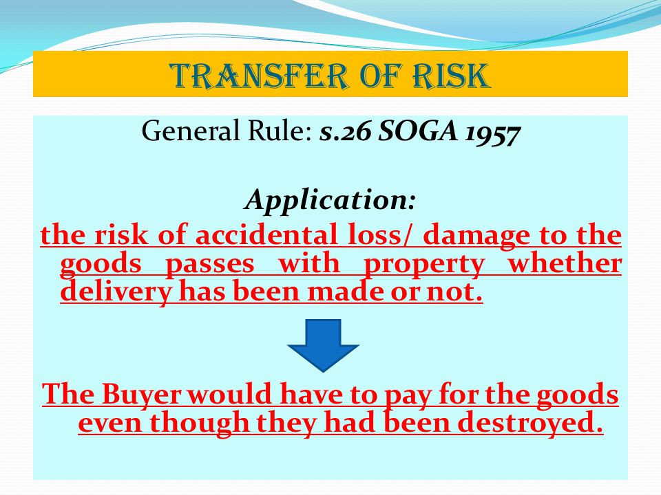 Transfer of Risk