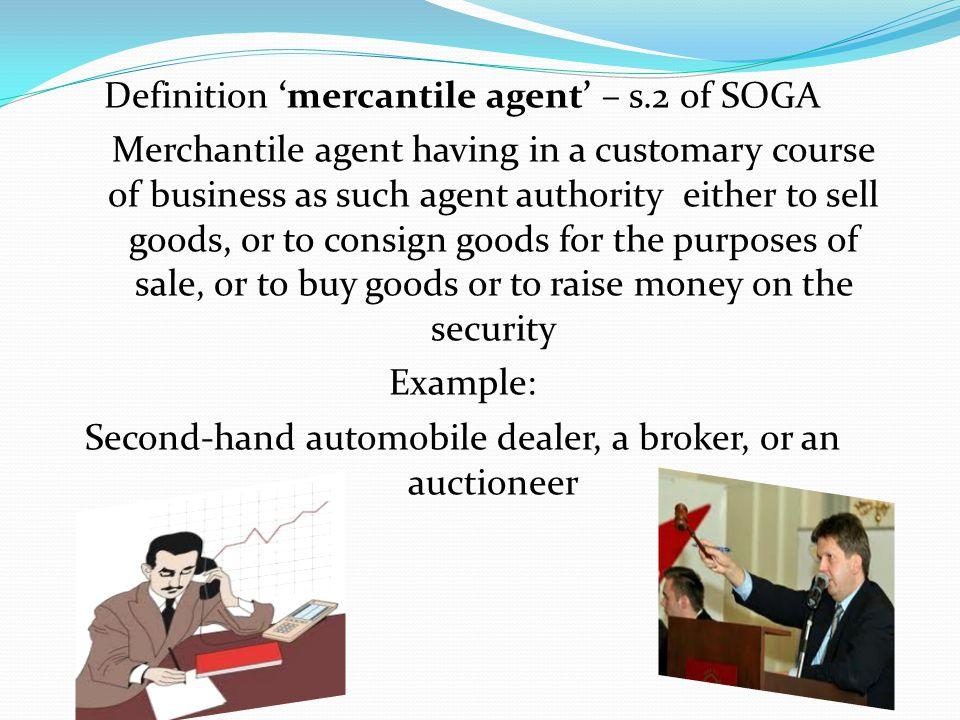 Definition 'mercantile agent' – s