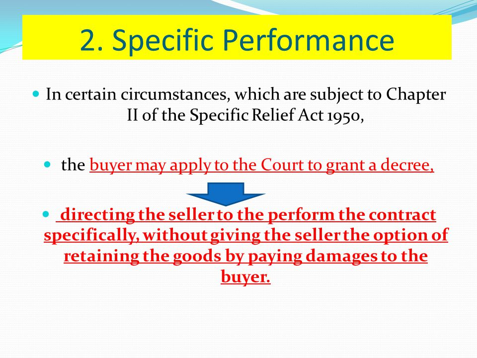 the buyer may apply to the Court to grant a decree,