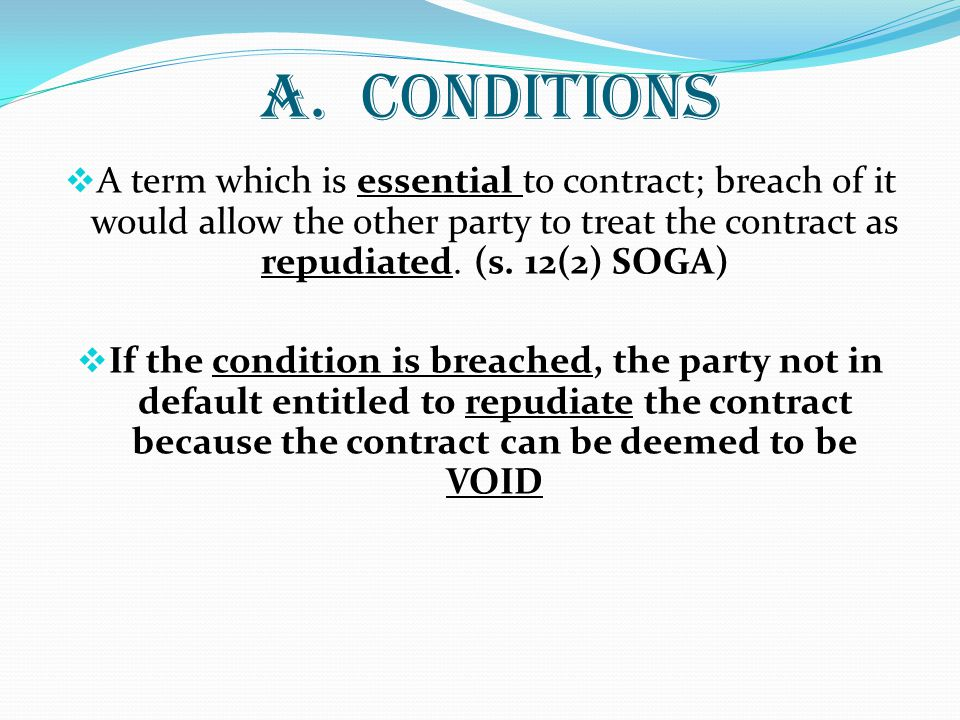 A. CONDITIONS