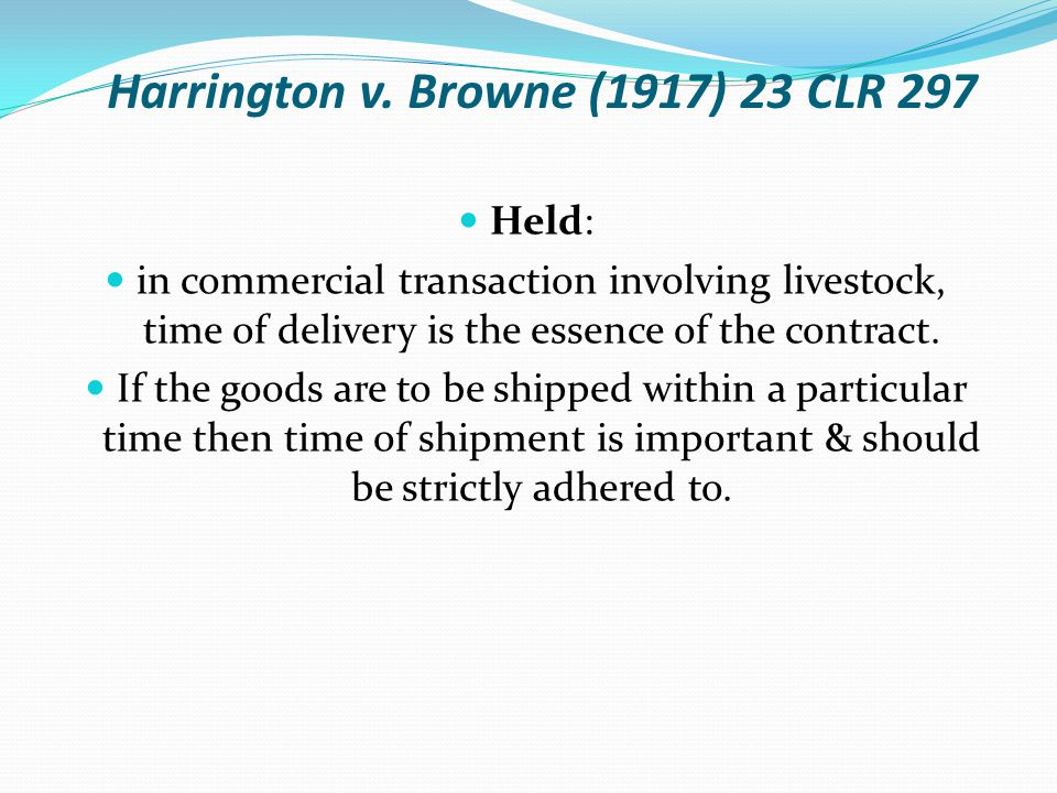 Harrington v. Browne (1917) 23 CLR 297