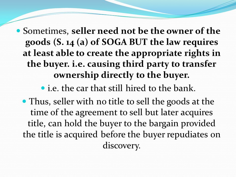 for required to transfer ownership of car