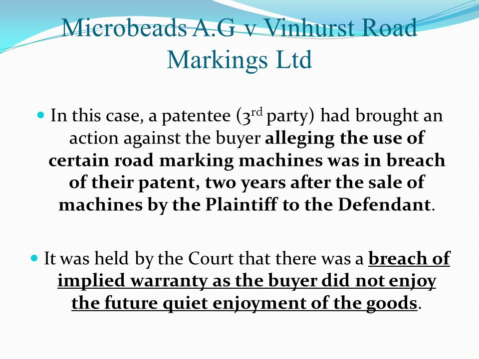 Microbeads A.G v Vinhurst Road Markings Ltd