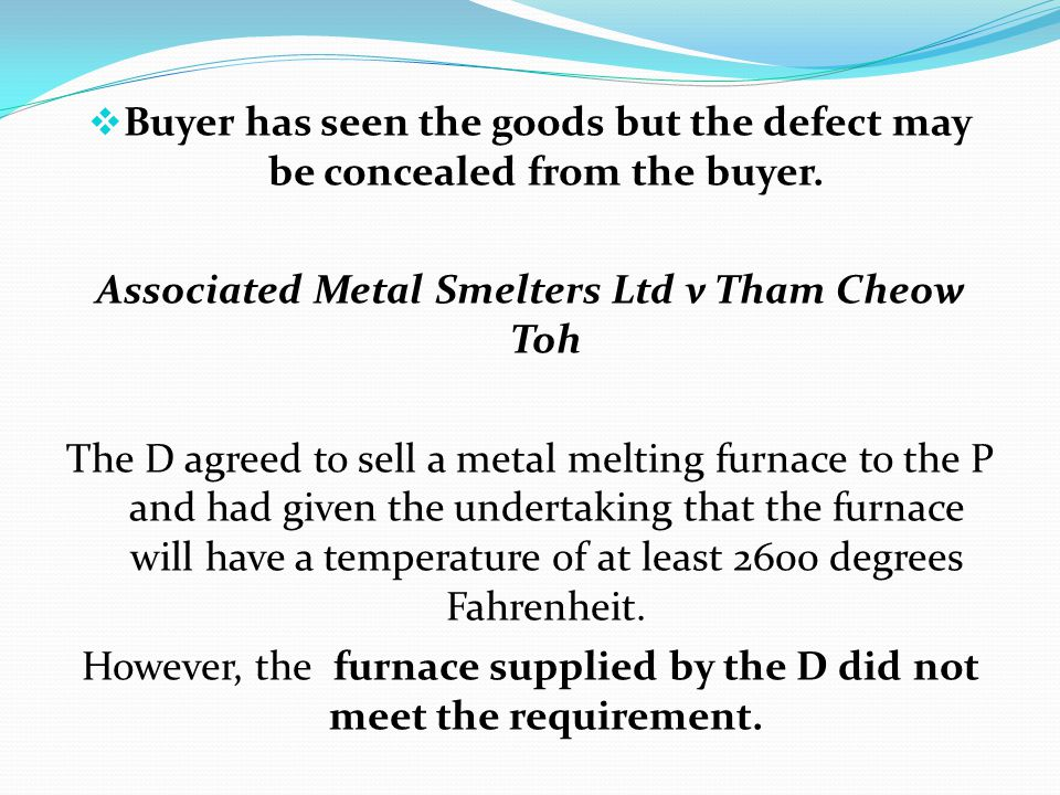 Associated Metal Smelters Ltd v Tham Cheow Toh