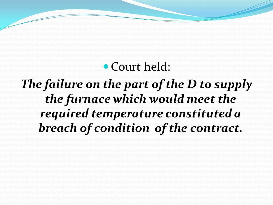 Court held: