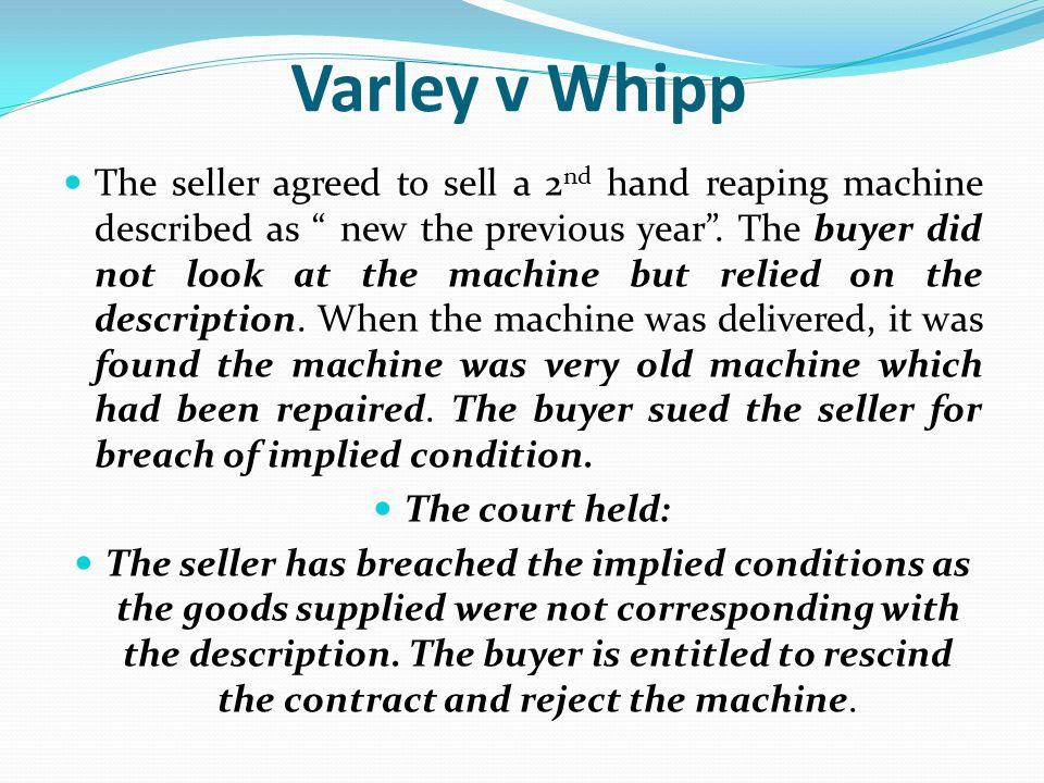 Varley v Whipp