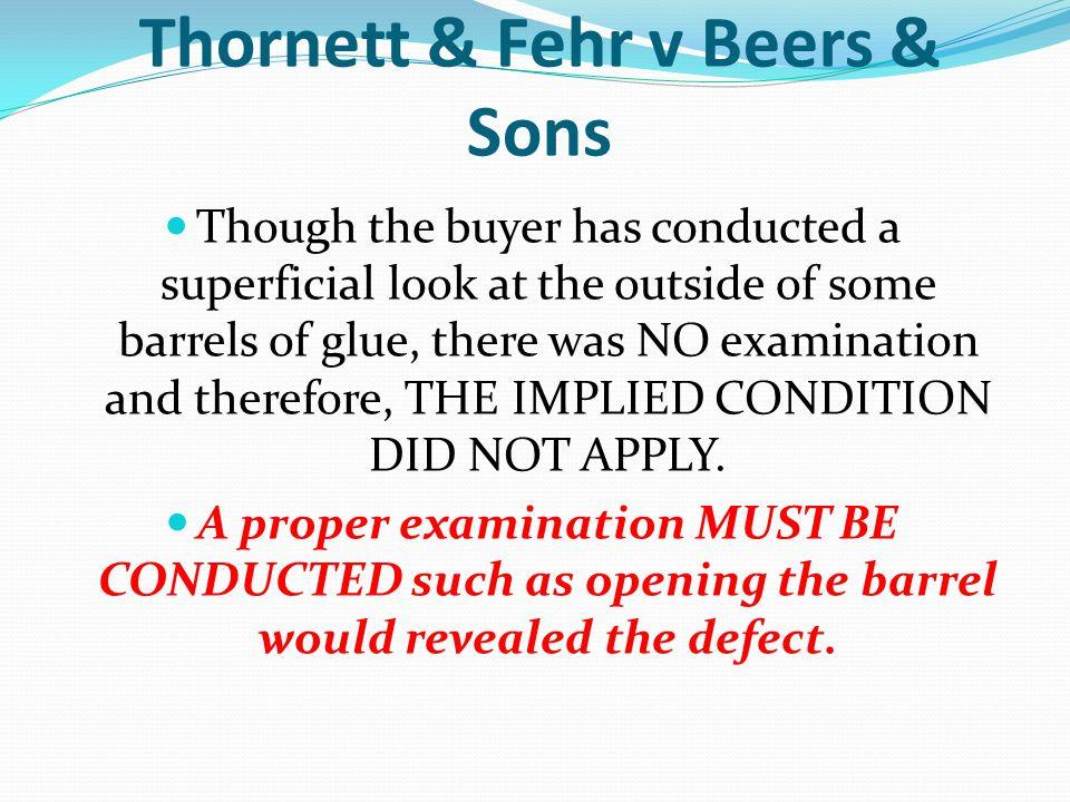 Thornett & Fehr v Beers & Sons