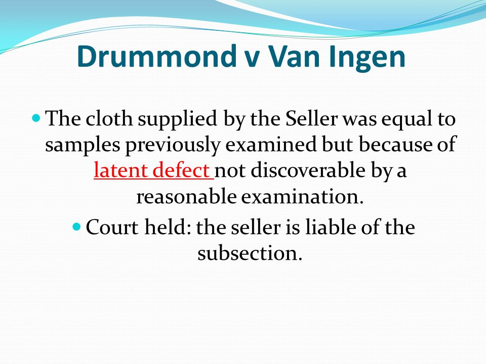 Court held: the seller is liable of the subsection.