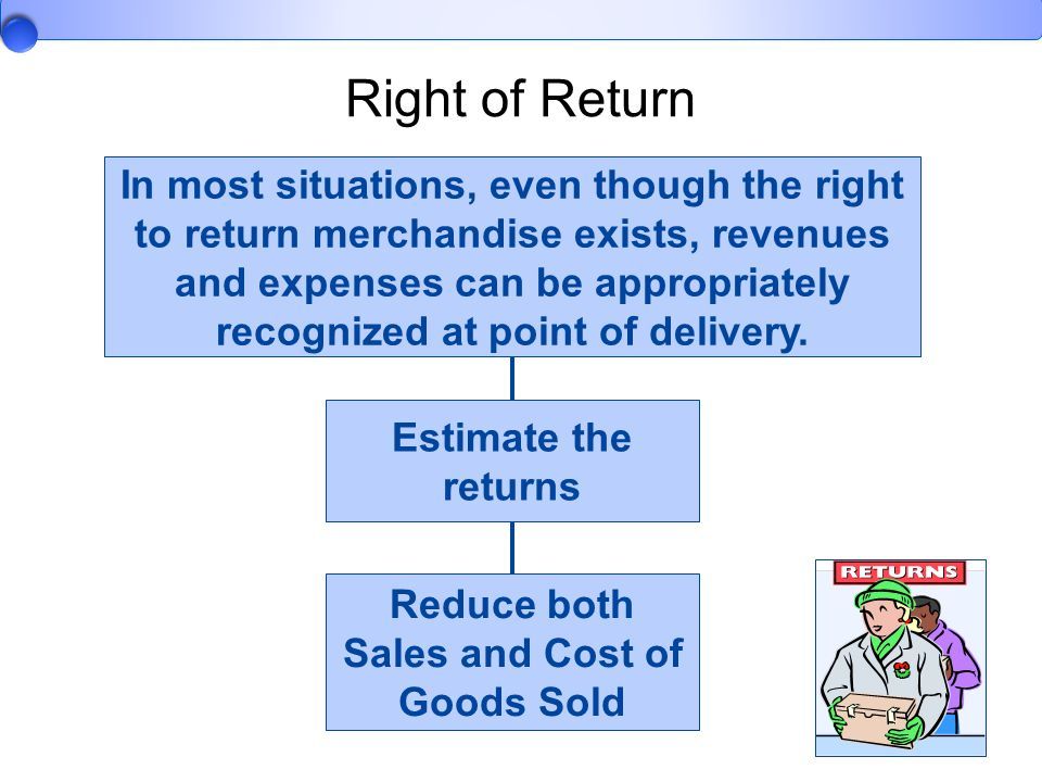 Reduce both Sales and Cost of Goods Sold