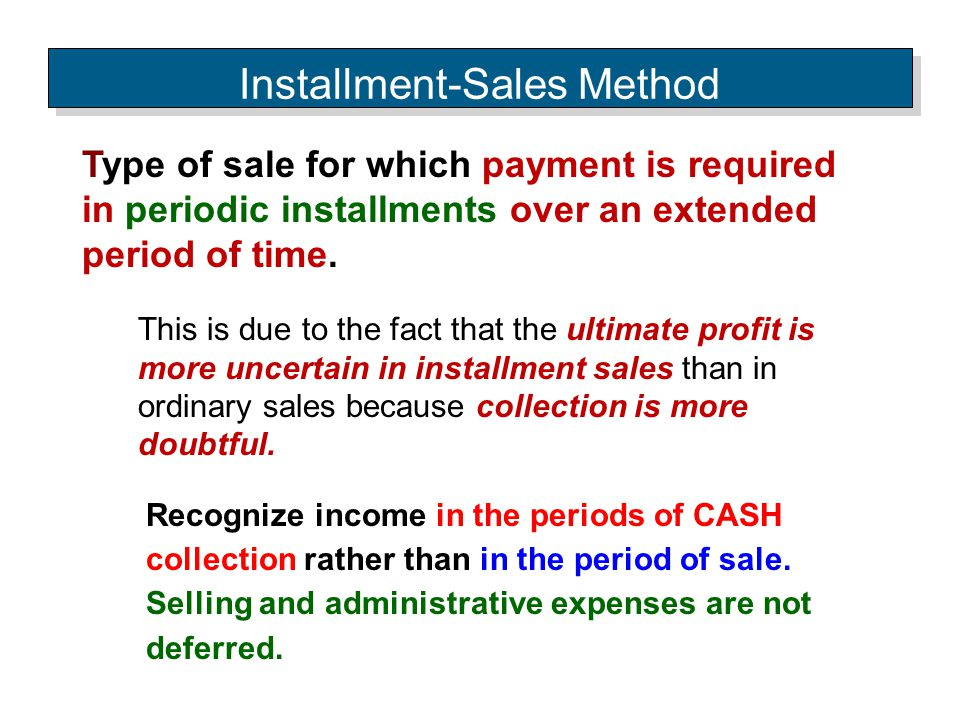 Installment-Sales Method