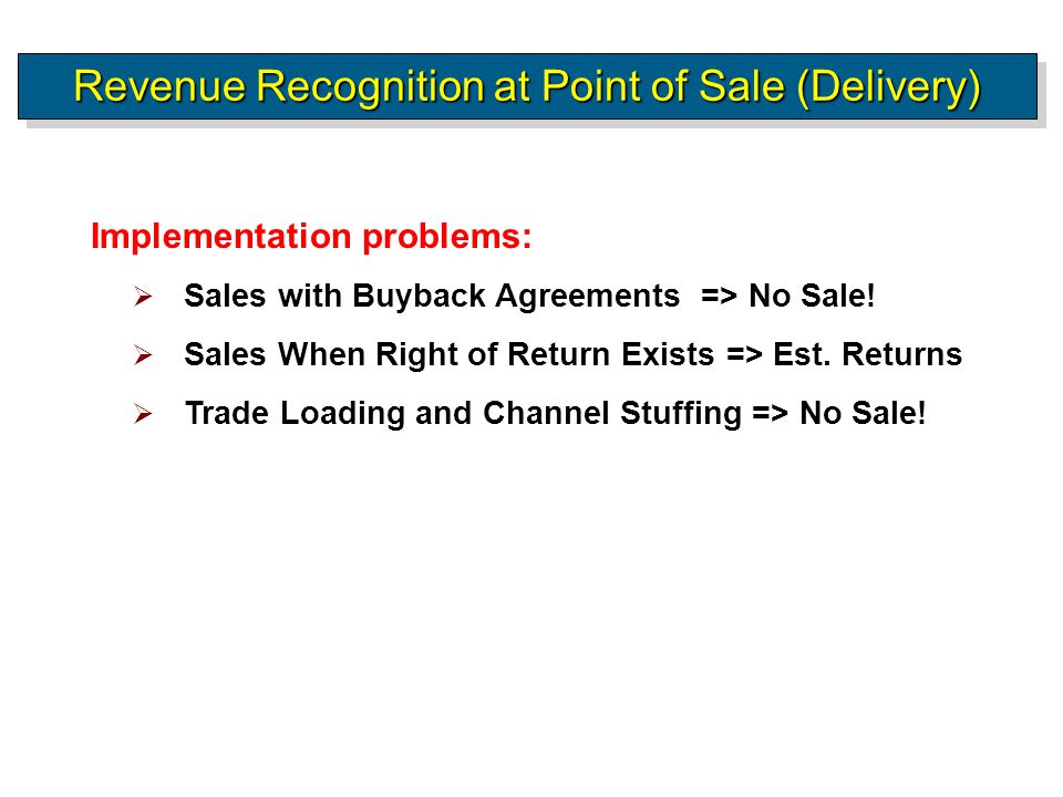 Ch  Part A Revenue Recognition  Ppt Download