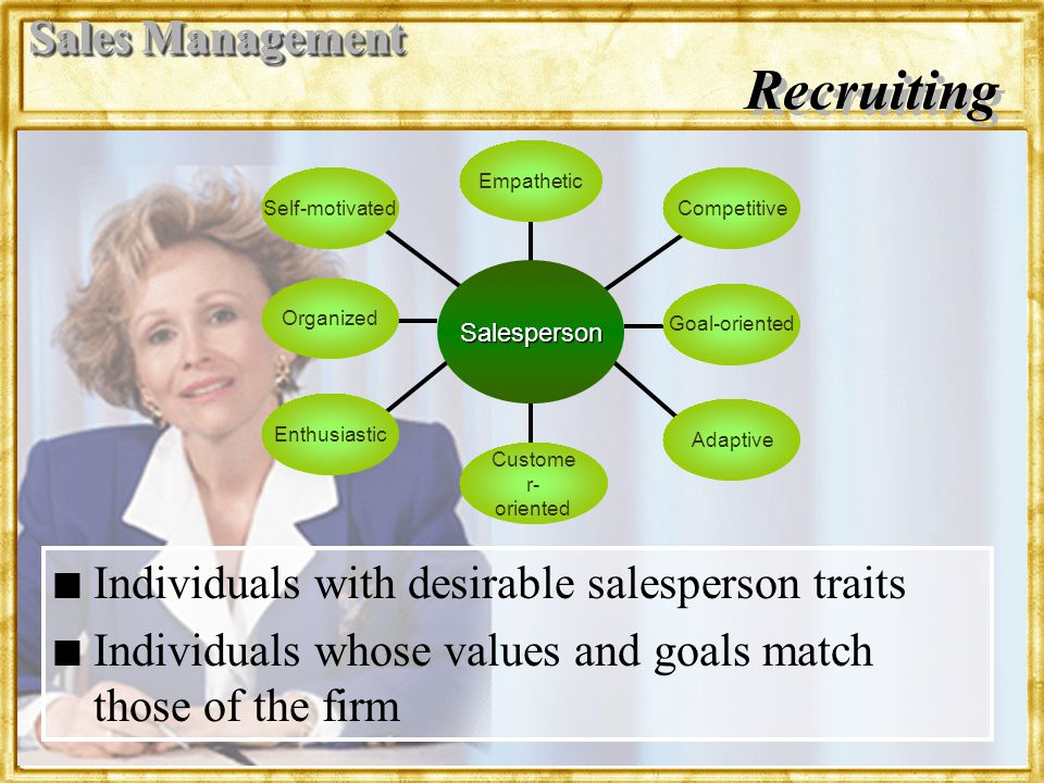 Recruiting Sales Management