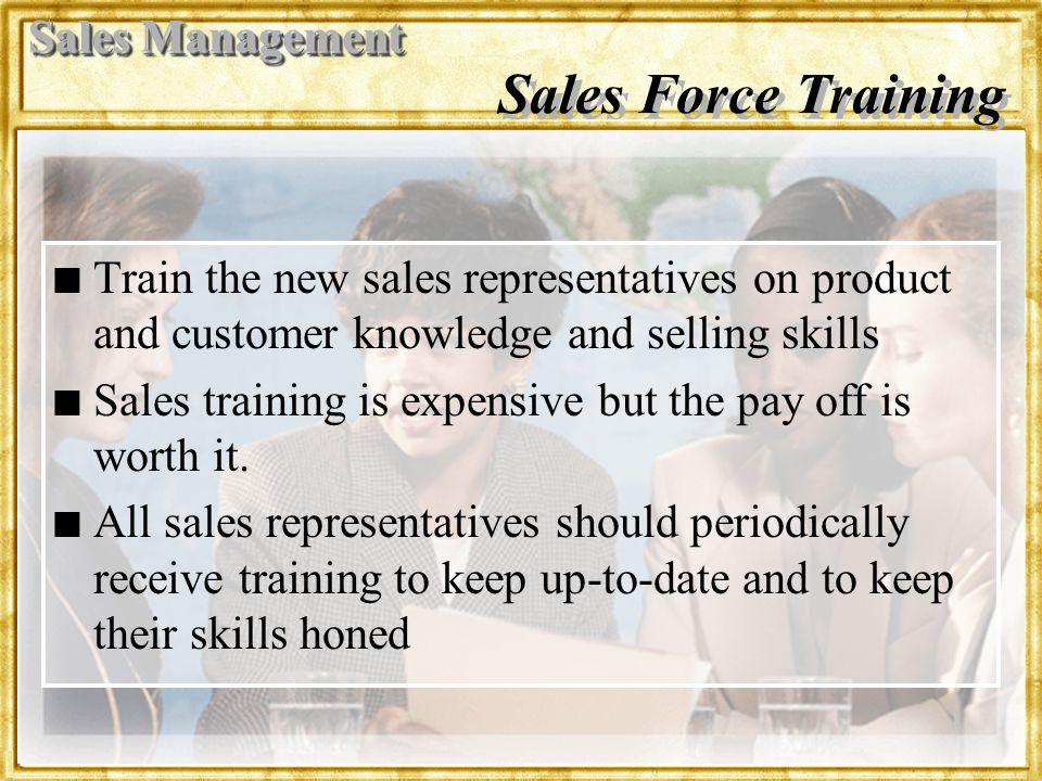 Sales Force Training Sales Management